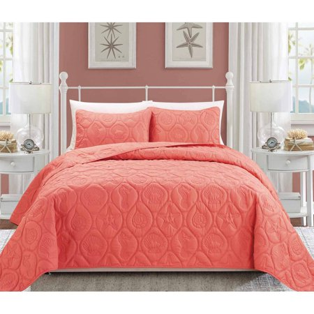 Red Toile Baby Bedding (EverRouge Coral 3-Piece Bedding Set )