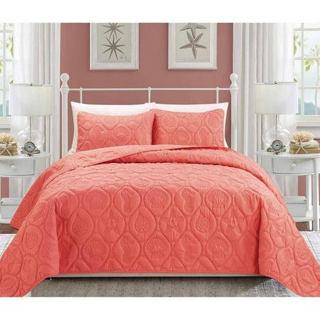 EverRouge Coral 3-Piece Bedding Set ()