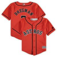 Alex Bregman Houston Astros Majestic Toddler Alternate Official Cool Base Player Jersey - Orange