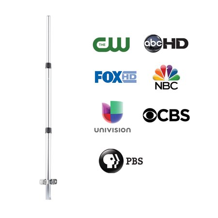 Black Mounting Pole - ONN ONB17CH004E Outdoor Antenna Mounting Pole with Mounting Hardware