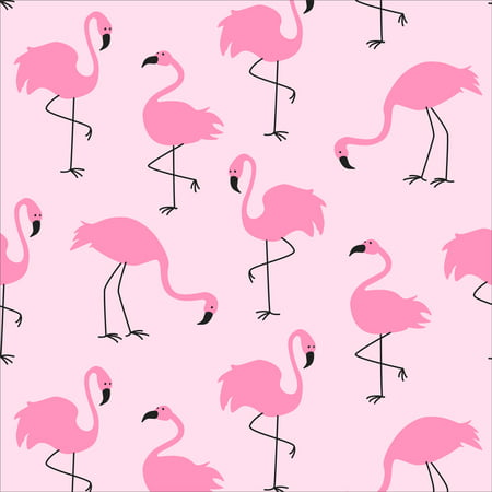 David Textiles Anti-Pill Fleece Fancy Flamingos Fabric By The Yard 60