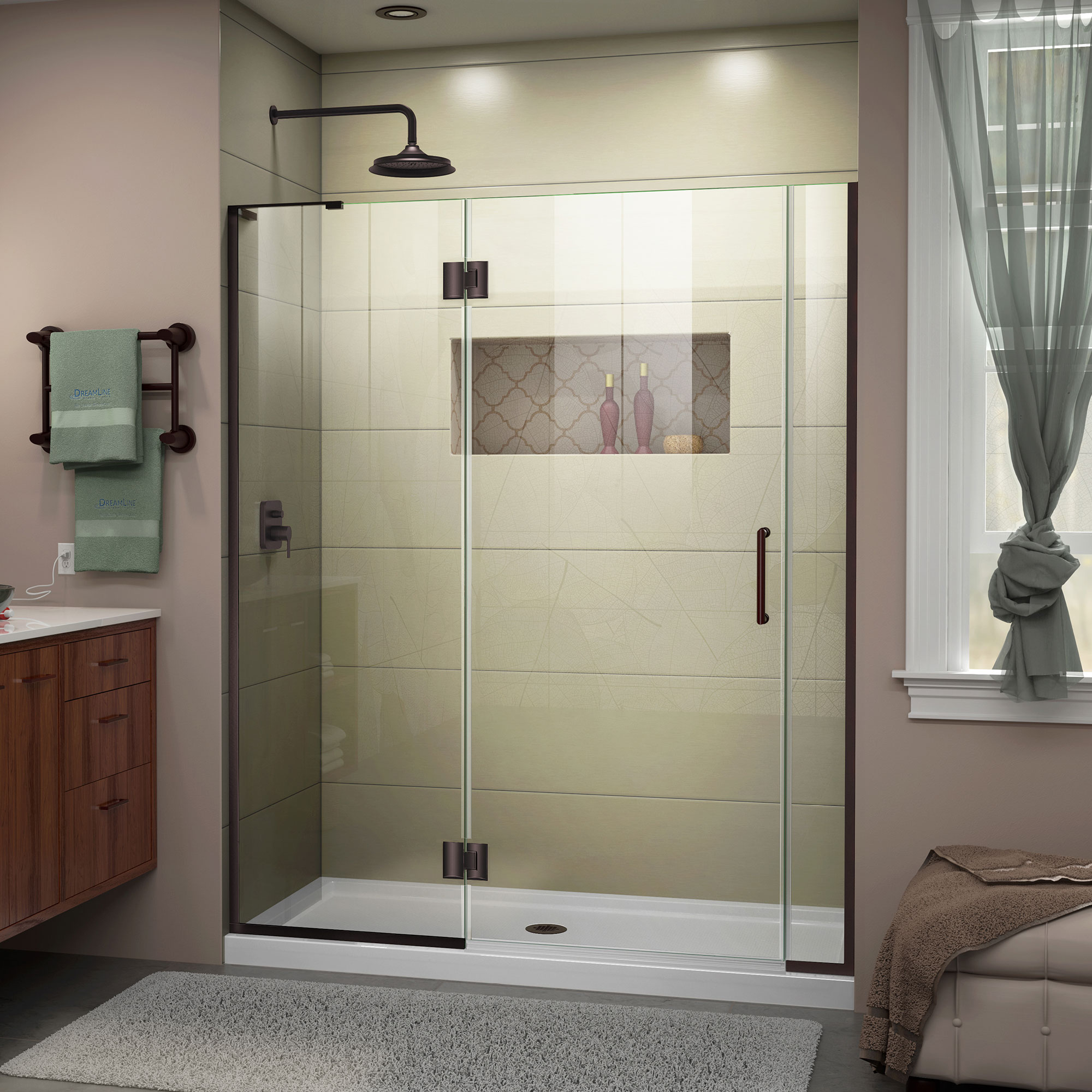 Dream line shower door old fashioned clothes line