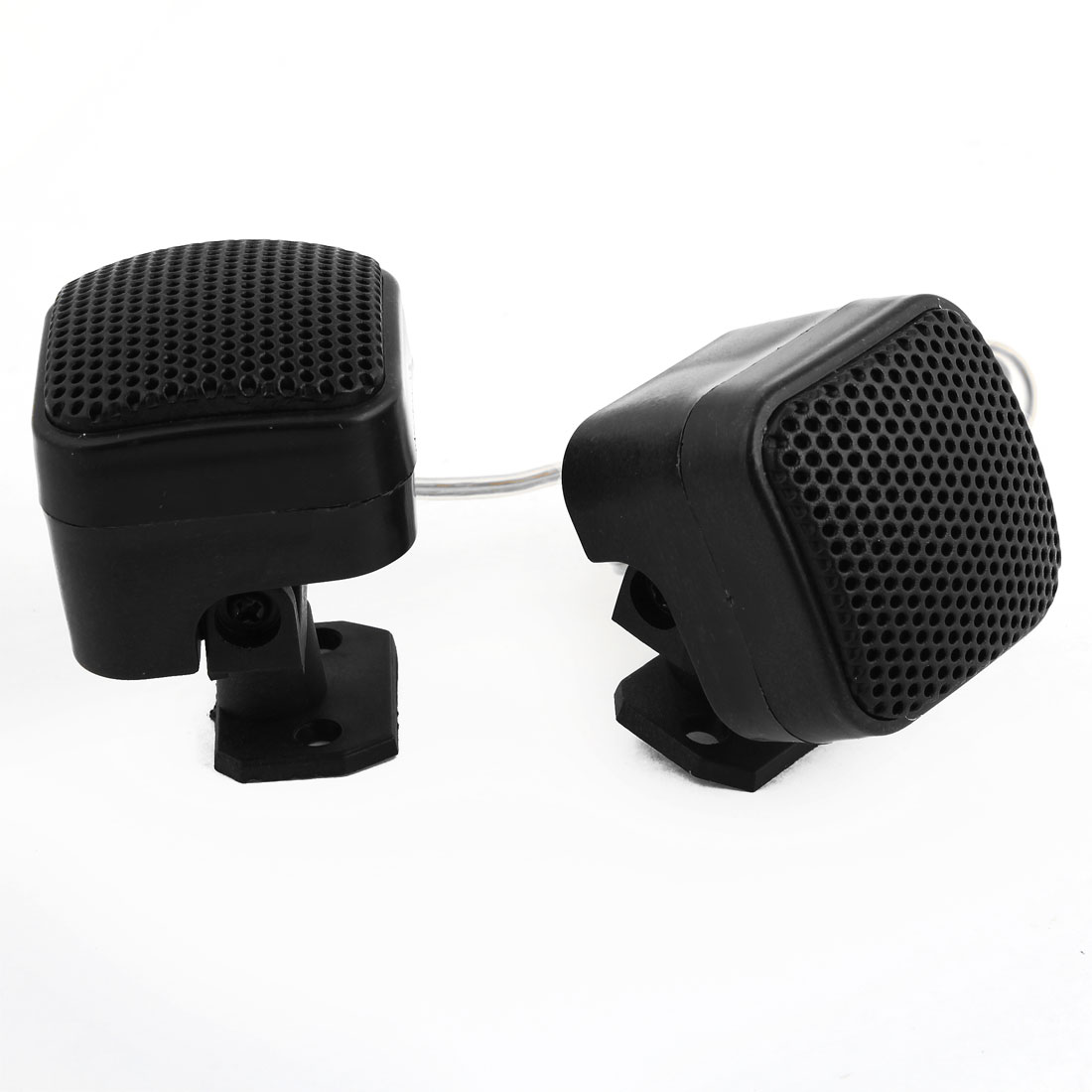 Pair Black Plastic Shell Pre-wired Car Dome Tweeters Speakers 4cm Dia 4 Ohm