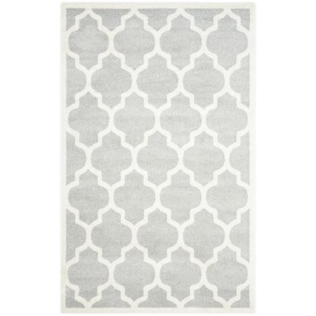 Safavieh Amherst 12 X 18 Power Loomed Rug In Light Gray And Beige