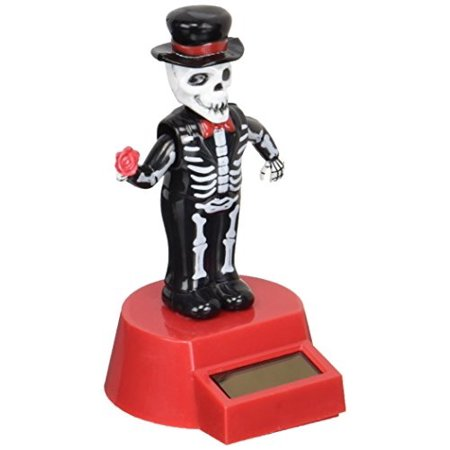 Fun and Cute Toys Halloween Solar Skeleton Groom Solar Powered Dancing Figure for Halloween or Over the Hill by Momentum Brands (Halloween Dance Tickets)