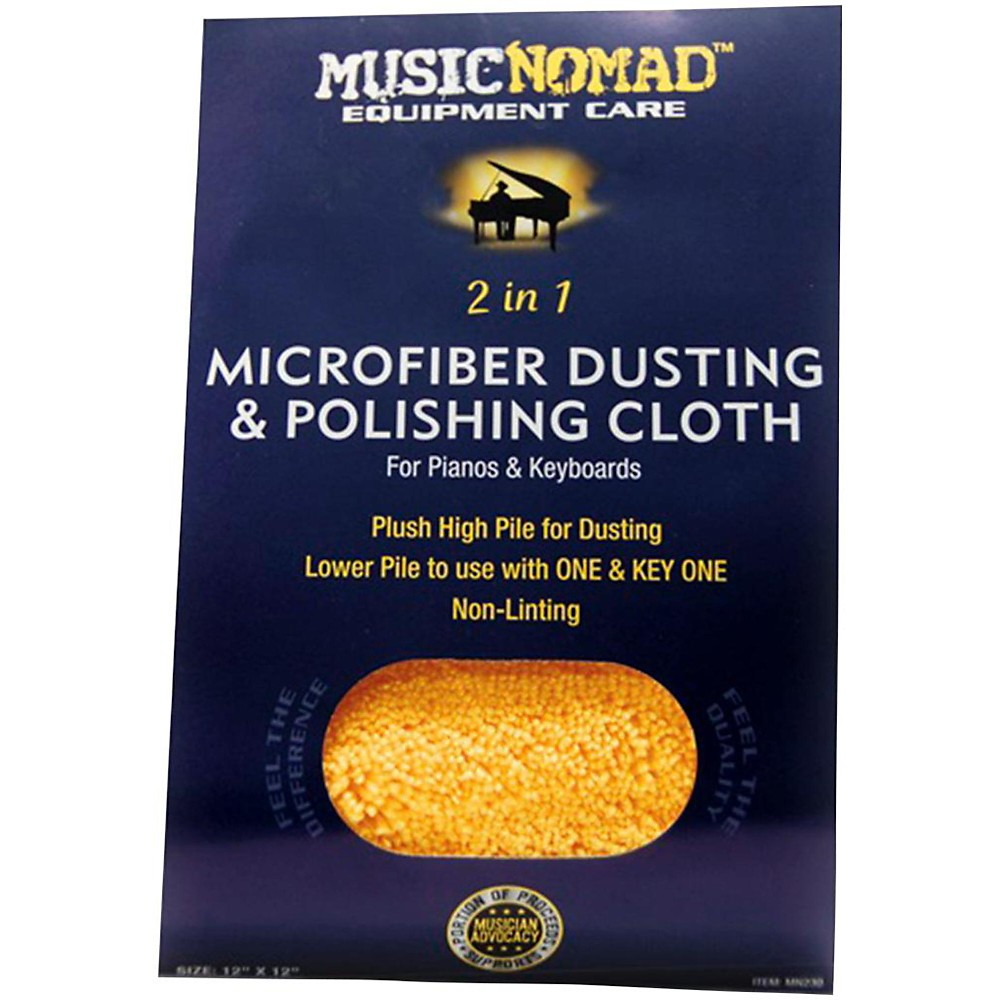 Music Nomad Microfiber Dusting & Polishing Cloth Pianos & Keyboards by Music Nomad