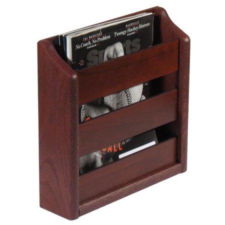 - Wooden Mallet MRS1MH 1 Pocket Wall Mounted Magazine Rack - Mahogany