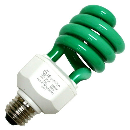 Sunlite 05512 - SL24/G 24W GREEN SWIRL Colored Compact Fluorescent Light Bulb Medium Fluorescent Green