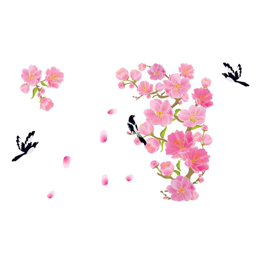 Household Flower Bird Pattern Removable Wall Sticker Decoration - image 3 de 3