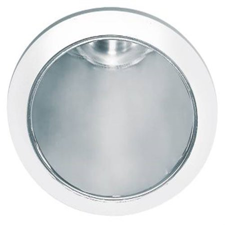 Recessed Socket - Monument 8 In. Recessed Anodized Reflector Trim With Vertical Socket, White, 9-1/8 X 7-7/8 In.