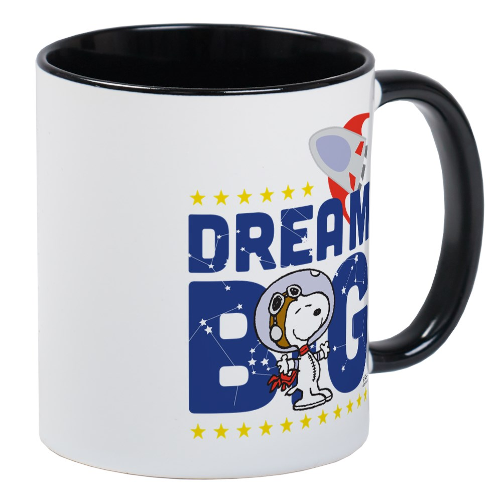CafePress - Peanuts Dream Big Mugs - Unique Coffee Mug ...