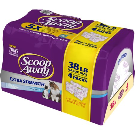 Coat 38 Short - Scoop Away Extra Strength Clumping Cat Litter, Scented, 38 lbs