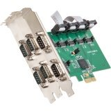 Io Crest 6 Port Rs232 Db9 Serial Pcie 2 0 X 1 With Exar Chipset Components Si Pex15040