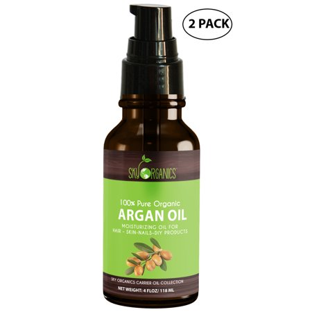 Sky Organics Best Moroccan Argan Oil By Sky Organics: Unrefined, 100% Pure, Cold-pressed, Organic Argan Oil From Morocco Moisturizing & Healing, for Dry Skin, Hair Conditioning, 4 oz (2 (Best Organic Skin Care Products Reviews)