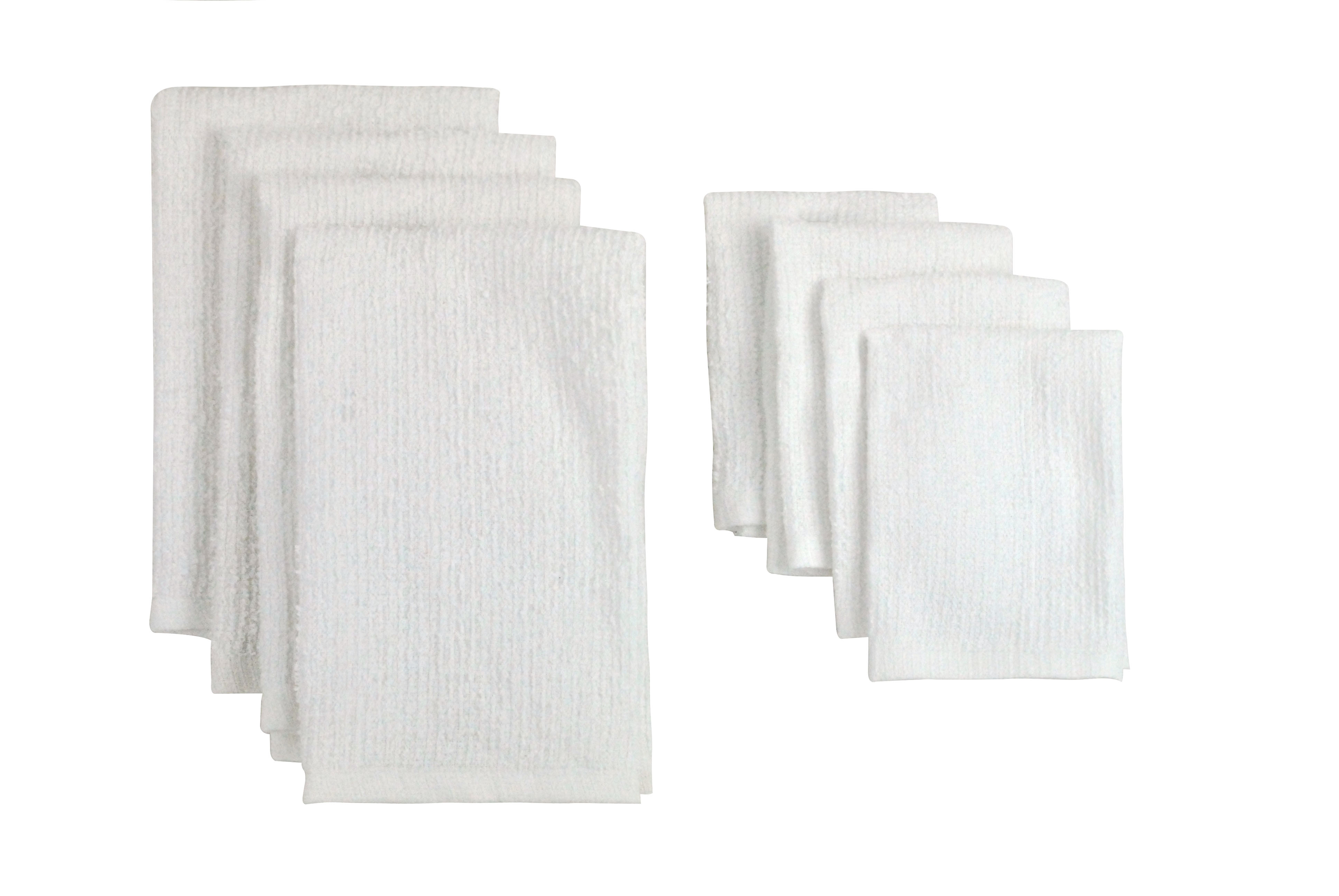 Click here to buy Design Imports White Terry Bar Mop Dishtowels & Dishcloths Set includes dishtowel set of 4 and dishcloth set... by Supplier Generic.