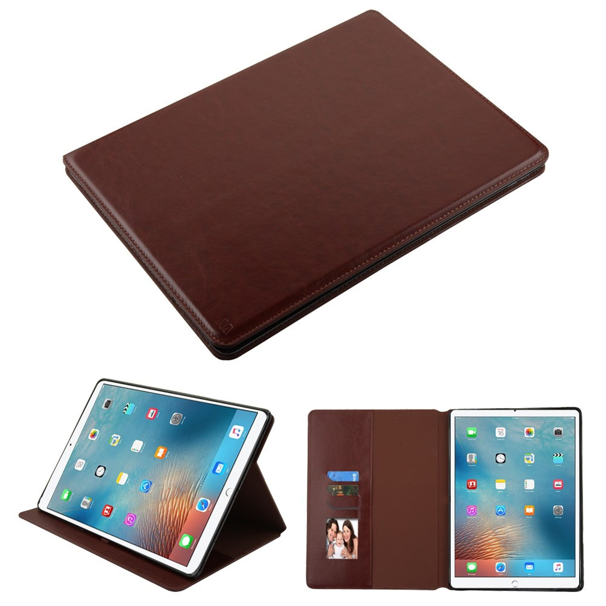 """iPad Pro 12.9 2017 case by Insten MyJacket Folio Flip Leather Case Cover w/Stand/[Card Slot] Wallet Flap Pouch/Photo Display For Apple iPad Pro 12.9"""" (2017)"""