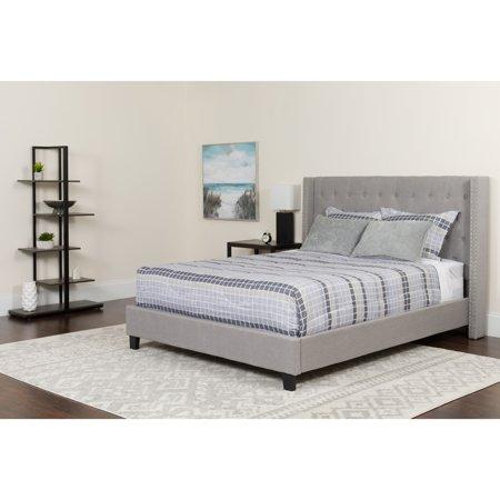 Lancaster Home Riverdale Size Tufted Upholstered Platform Bed