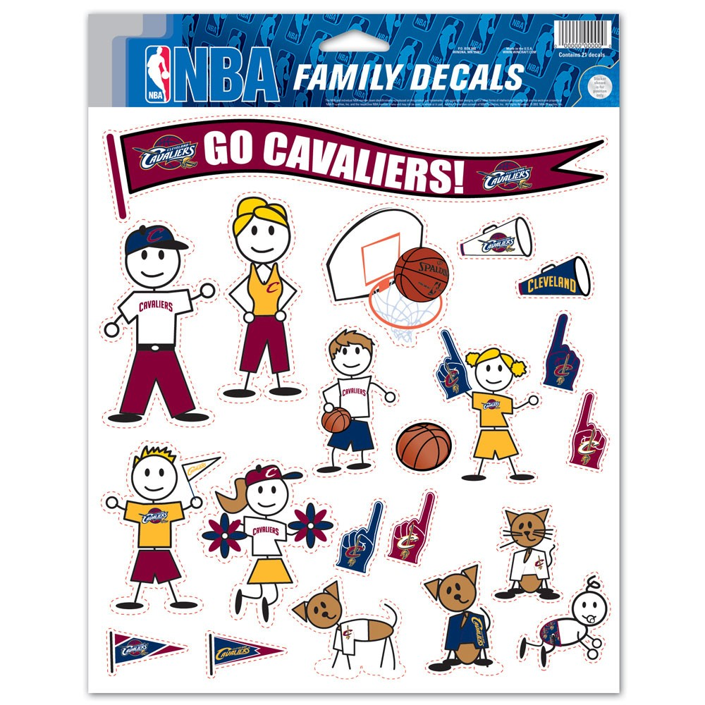 Cleveland Cavaliers Official NBA 11 inch x 17 inch Family Car Decal by Wincraft by Wincraft