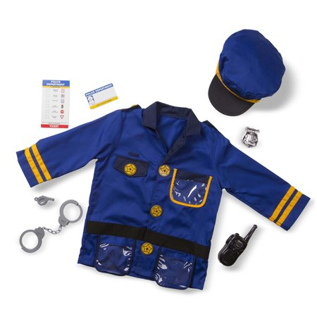 Melissa & Doug Police Officer Costume Set - Kid Dog Costume