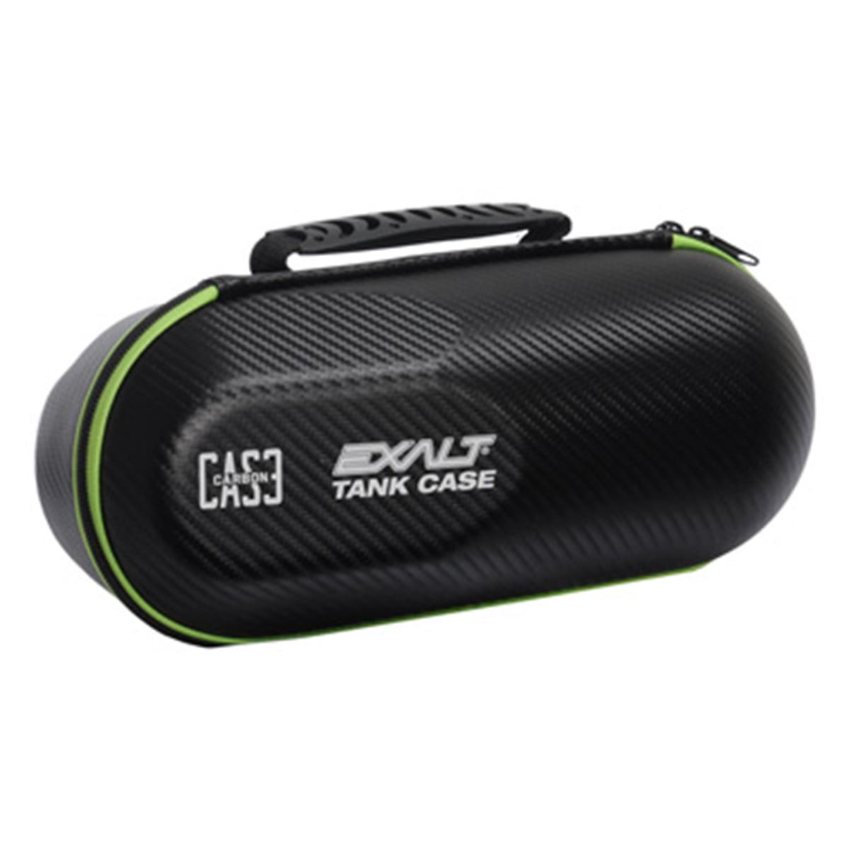 Exalt Paintball Carbon Series Tank Case - Black / Lime