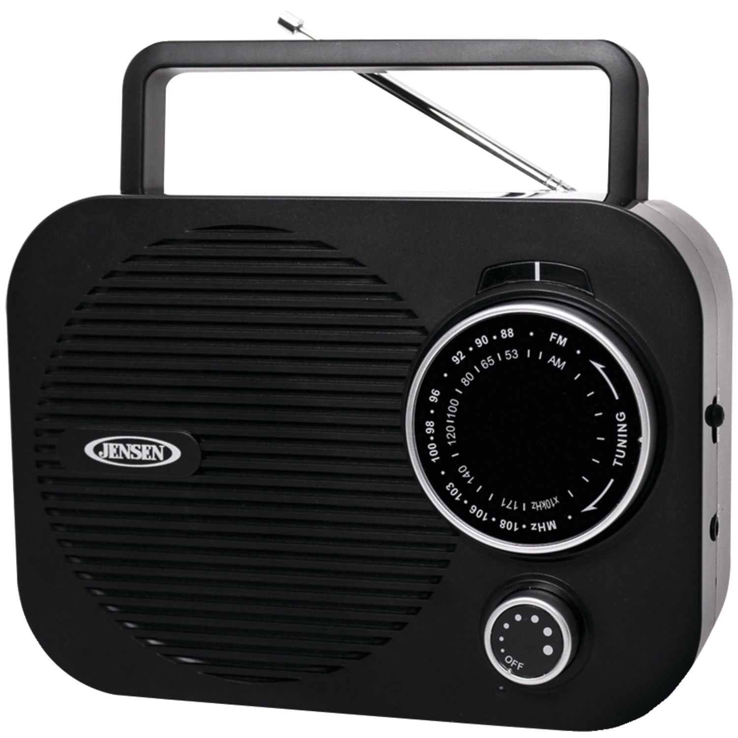 JENSEN MR-550-BK Portable AM FM Radio (Black) by Jensen
