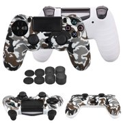 EEEkit Camouflage Silicone Rubber Case Skin Grip Cover For PlayStation 4 PS4 Controller