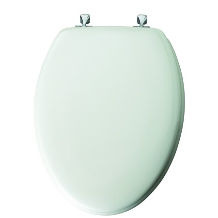 Sedona Beige Elongated Toilet Seat - Mayfair Elongated Molded Wood Toilet Seat with Sta-Tite System