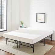 """Mainstays 14"""" High Profile Foldable Steel Bed Frame, Powder-coated Steel, Full"""