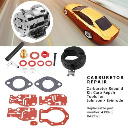 HURRISE Carb Rebuild Kit, Motorcycle Carburetor Repair,Carburetor Rebuild Kit Carb Repair Tools for Johnson / Evinrude 439073 0439073 - image 1 de 7