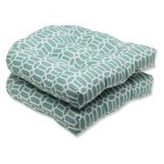 Pillow Perfect Outdoor/ Indoor Rhodes Quartz Wicker Seat Cushion (Set of 2)