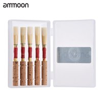 ammoon Oboe Reeds Wind Instrument Part with Plastic Case, 5pcs/ Pack