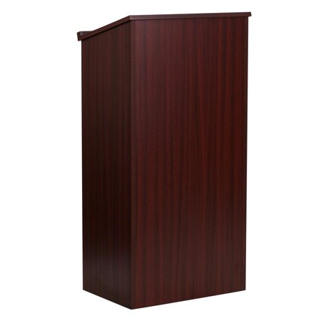 Podium Stand - Stand-Up Wood Lectern in Mahogany