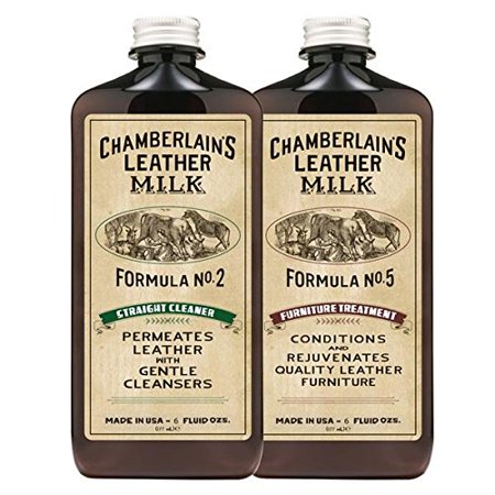 Chamberlain's 2-Formula Furniture Leather Conditioner and Cleaner Set - 6