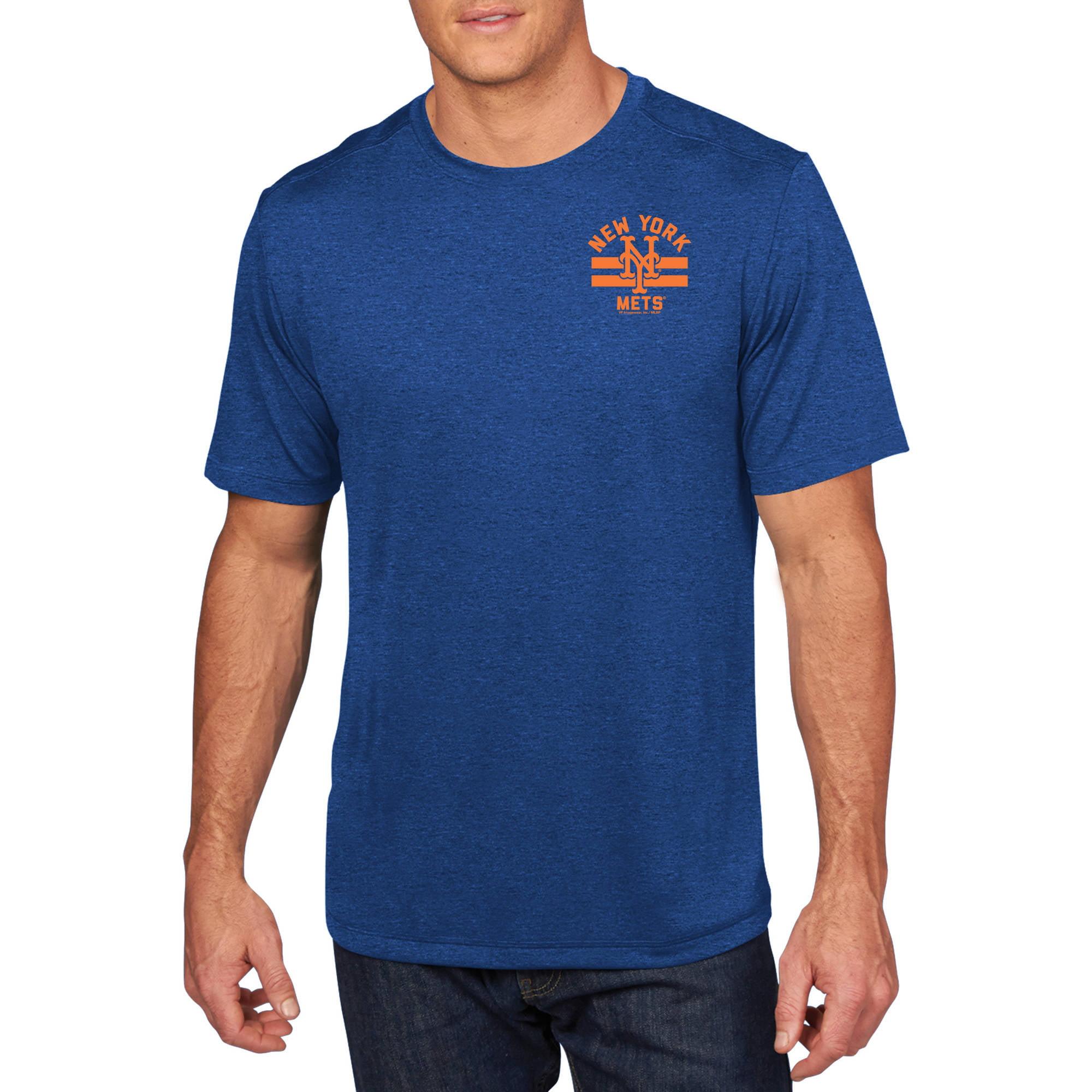 MLB - Big Mens New York Mets Short Sleeve Synthetic Team Tee