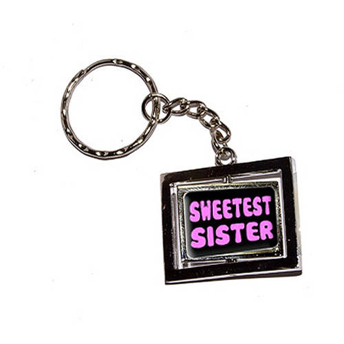 Sweetest Sister Pink New Keychain Ring