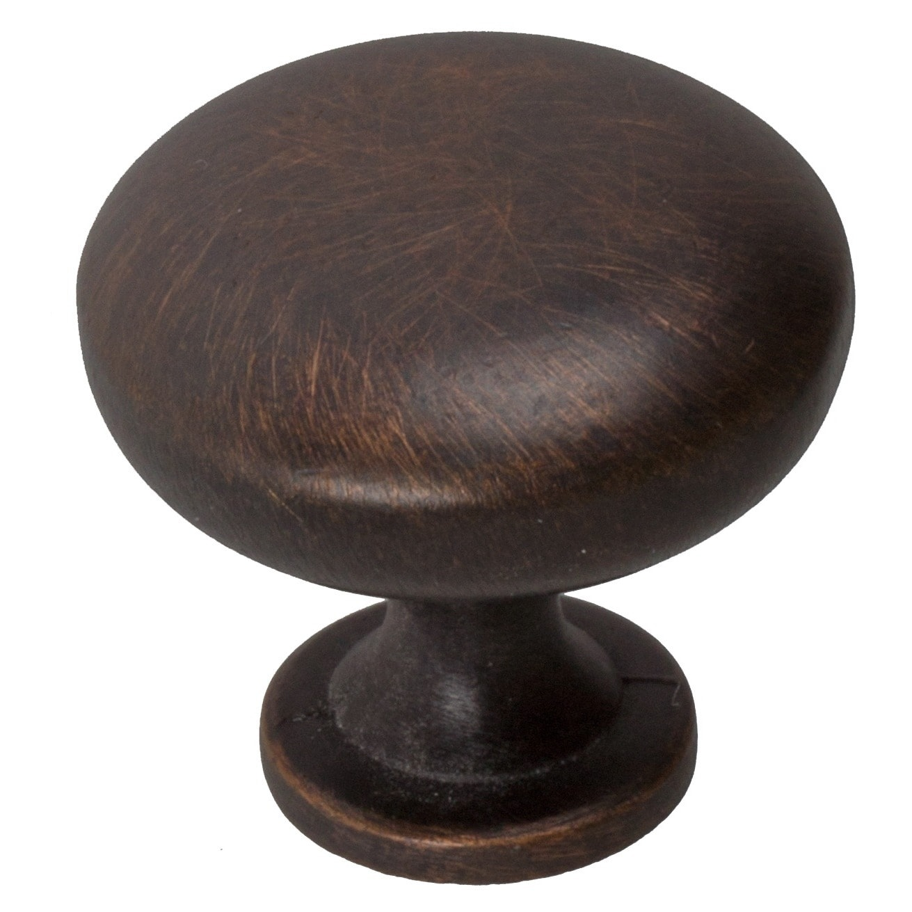 GlideRite  1.125-inch Oil Rubbed Bronze Classic Round Cabinet Knobs (Case of 25)