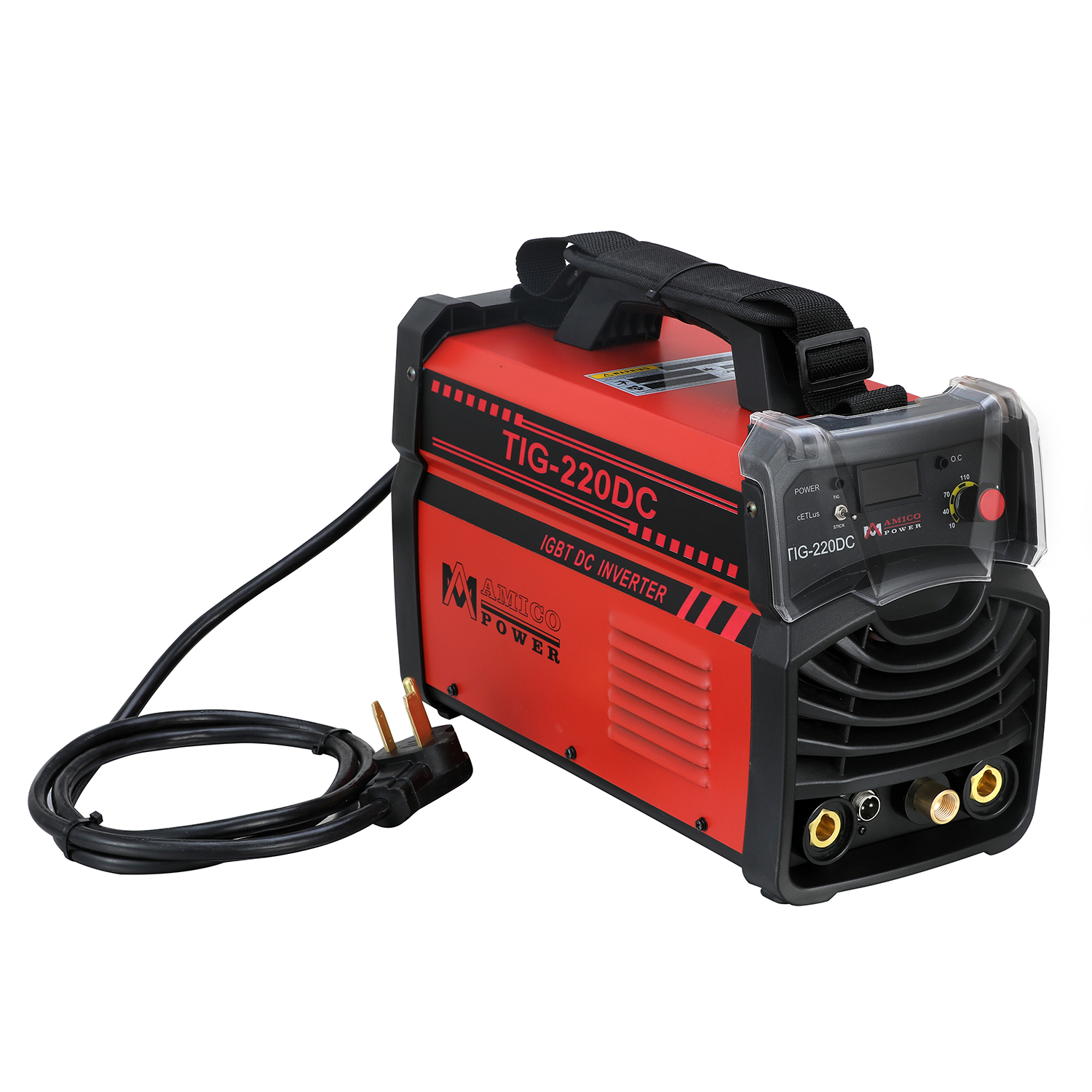 Amico TIG-220DC 220 Amp TIG Torch Stick Arc 2-in-1 Welder 230/110V Dual Voltage Input Welding