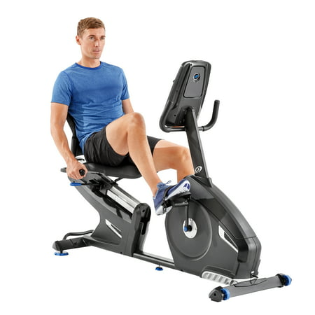 Nautilus R616 Bluetooth Recumbent Bike Syncs with RideSocial & Nautilus Trainer 2