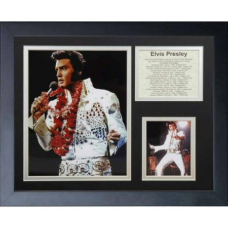 Legends Never Die Elvis Presley White Suit Framed Photo Collage, 11