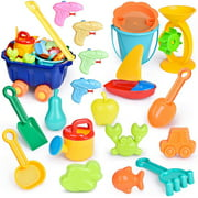 20 PCs Beach Toys for Kids Set;Summer Fun Sand Toys and Sandbox Toys F-301