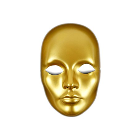 Costume Accessories Mask It Gold Painted Full Mask (Multipack of 3)
