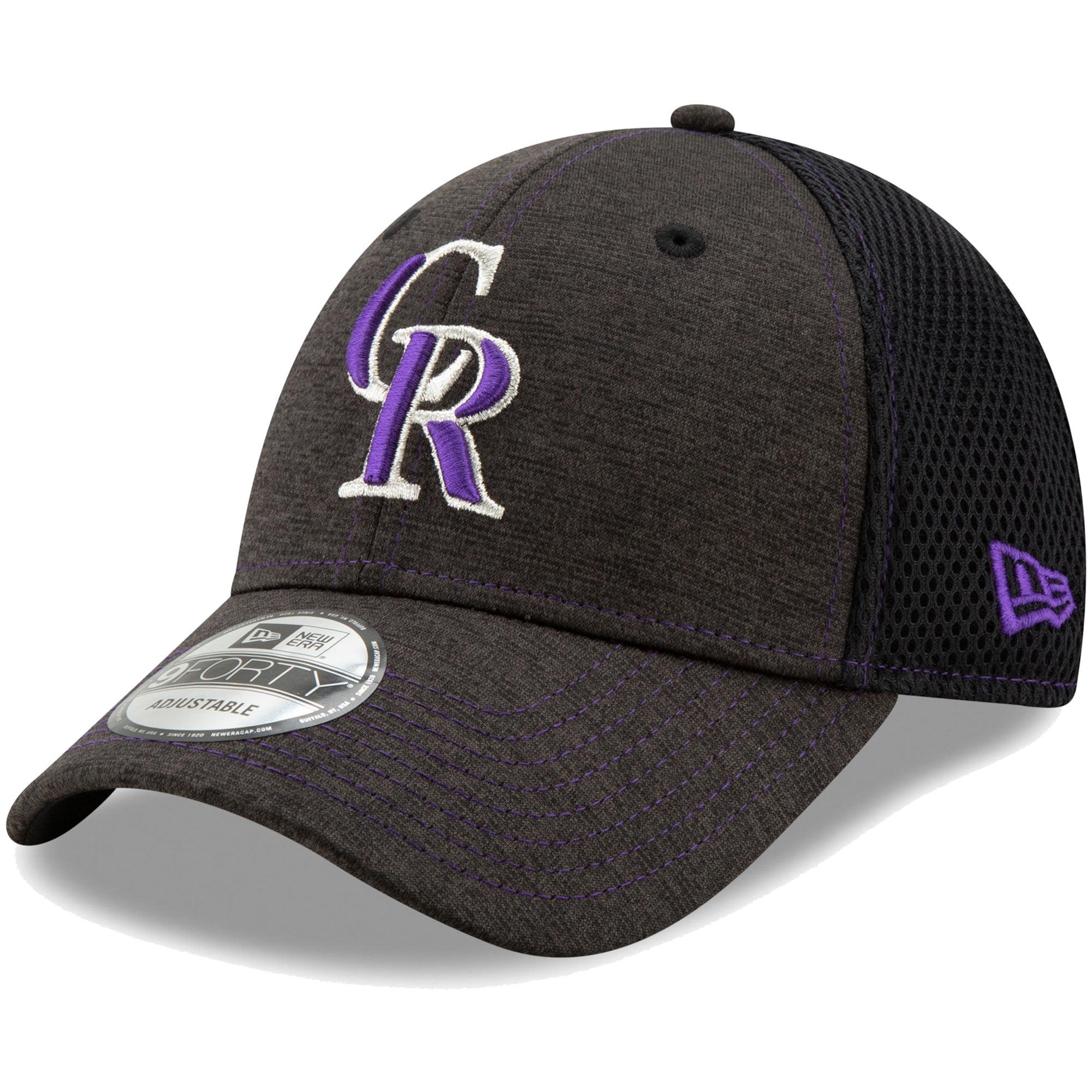 Colorado Rockies New Era Youth Team Tread 9FORTY Adjustable Hat - Heathered Black - OSFA