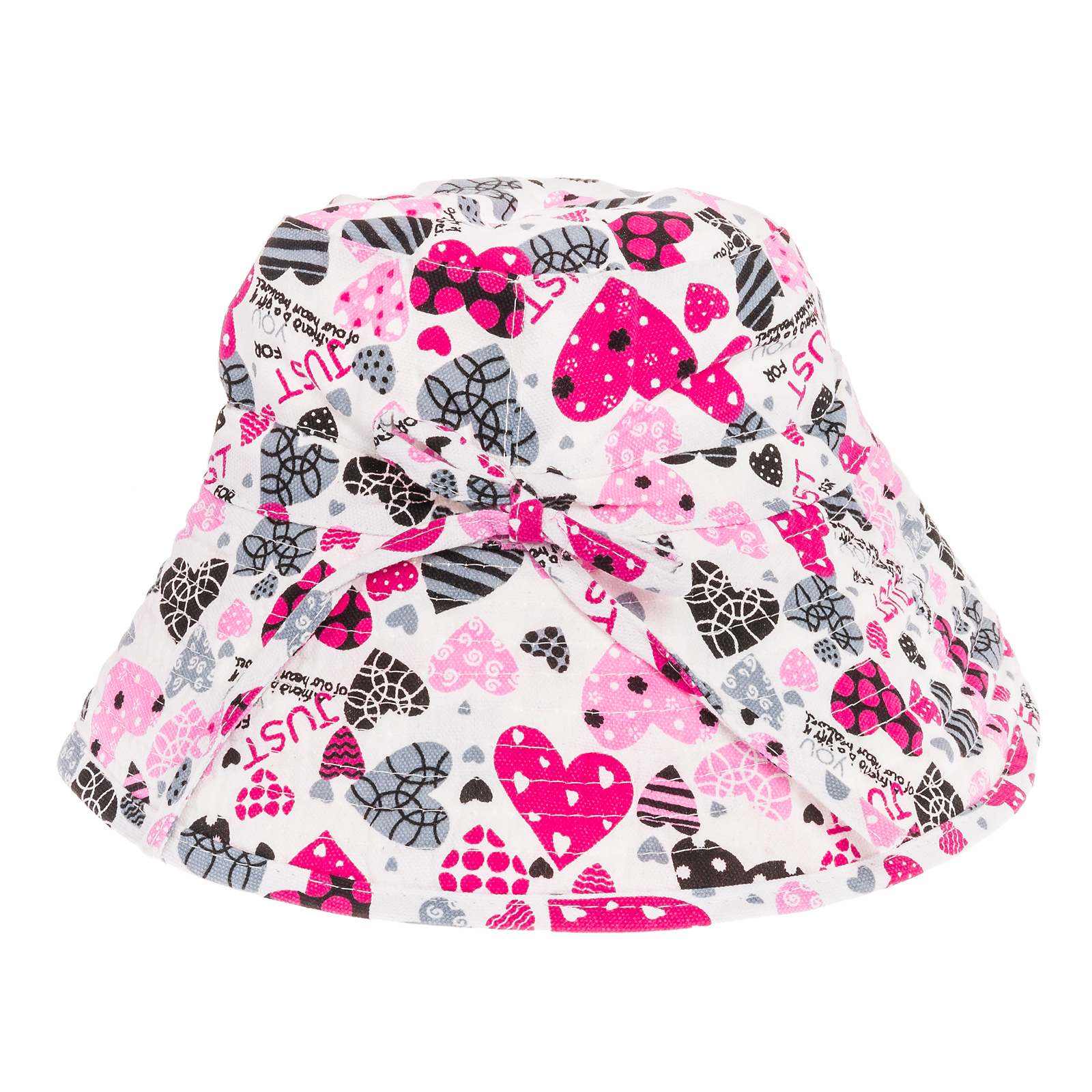 Pink Heart Print Design Womens Bucket Floppy Summer Sun Gardening Beach Hat