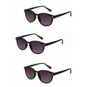 "3 Pair of ""The Brilliance"" Bifocal Sunglasses - Round, Full Frame Reading Sunglasses"