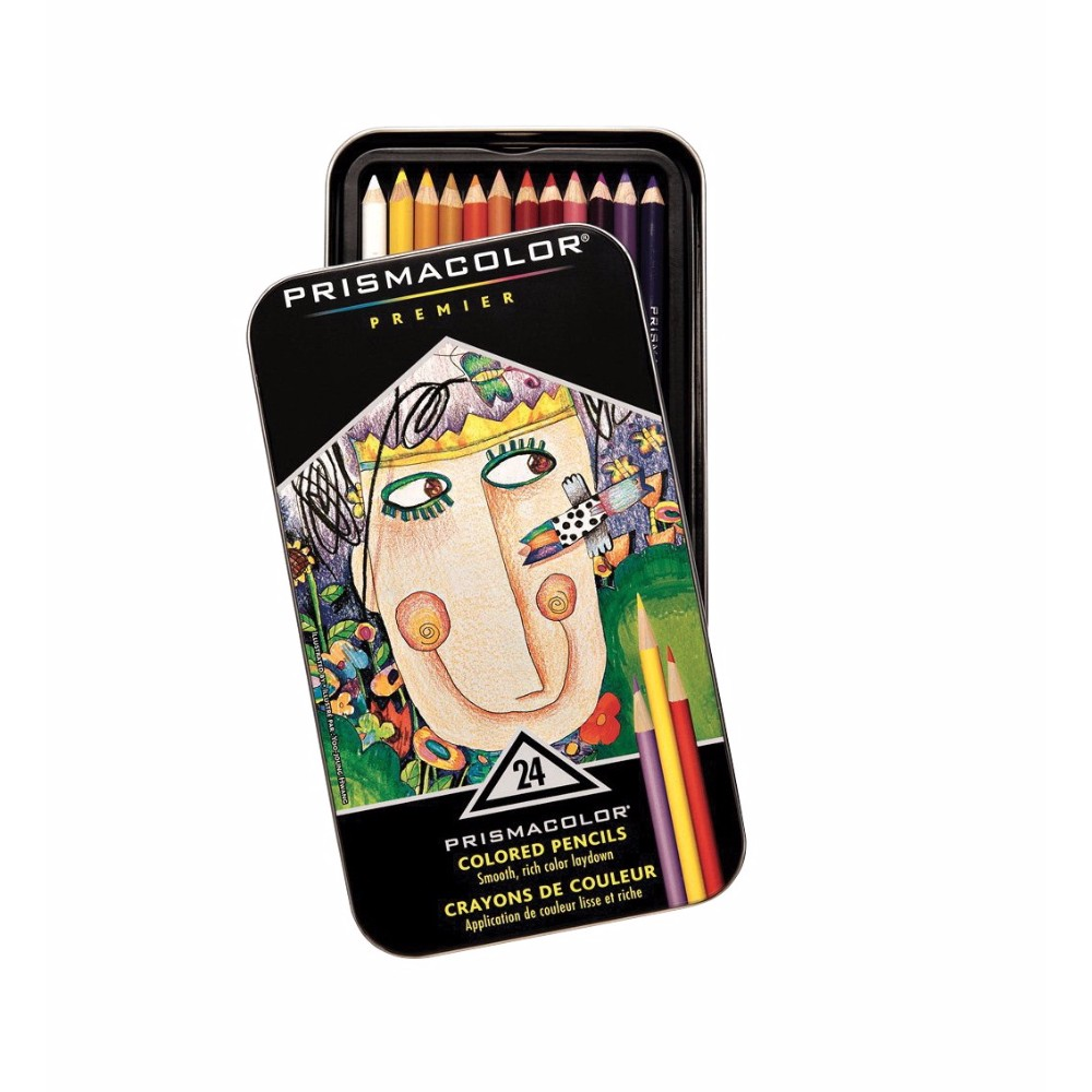 Prismacolor 002430 Premier Non-Toxic Soft Core Colored Pencil Set, Assorted Color, Set - 24