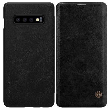Samsung Galaxy S10 Plus Leather Flip Card Slot Wallet Cover Case - -