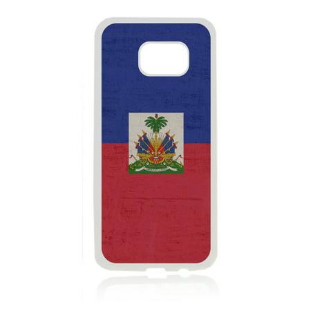 Flag Haiti - Haitian Flag White Rubber Thin Case Cover for the Samsung Galaxy s7 - Samsung Galaxys7 Accessories - s7 Phone Case ()