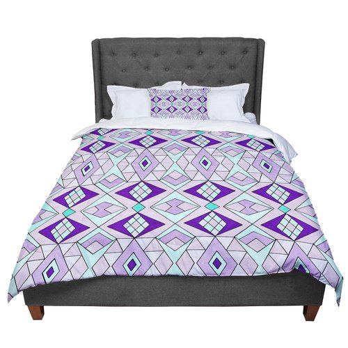 East Urban Home Pom Graphic Design Geometric Flow Geometric Comforter