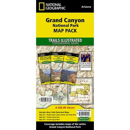 National Geographic Trails Illustrated Map: Grand Canyon National Park [map Pack Bundle] - Folded Map