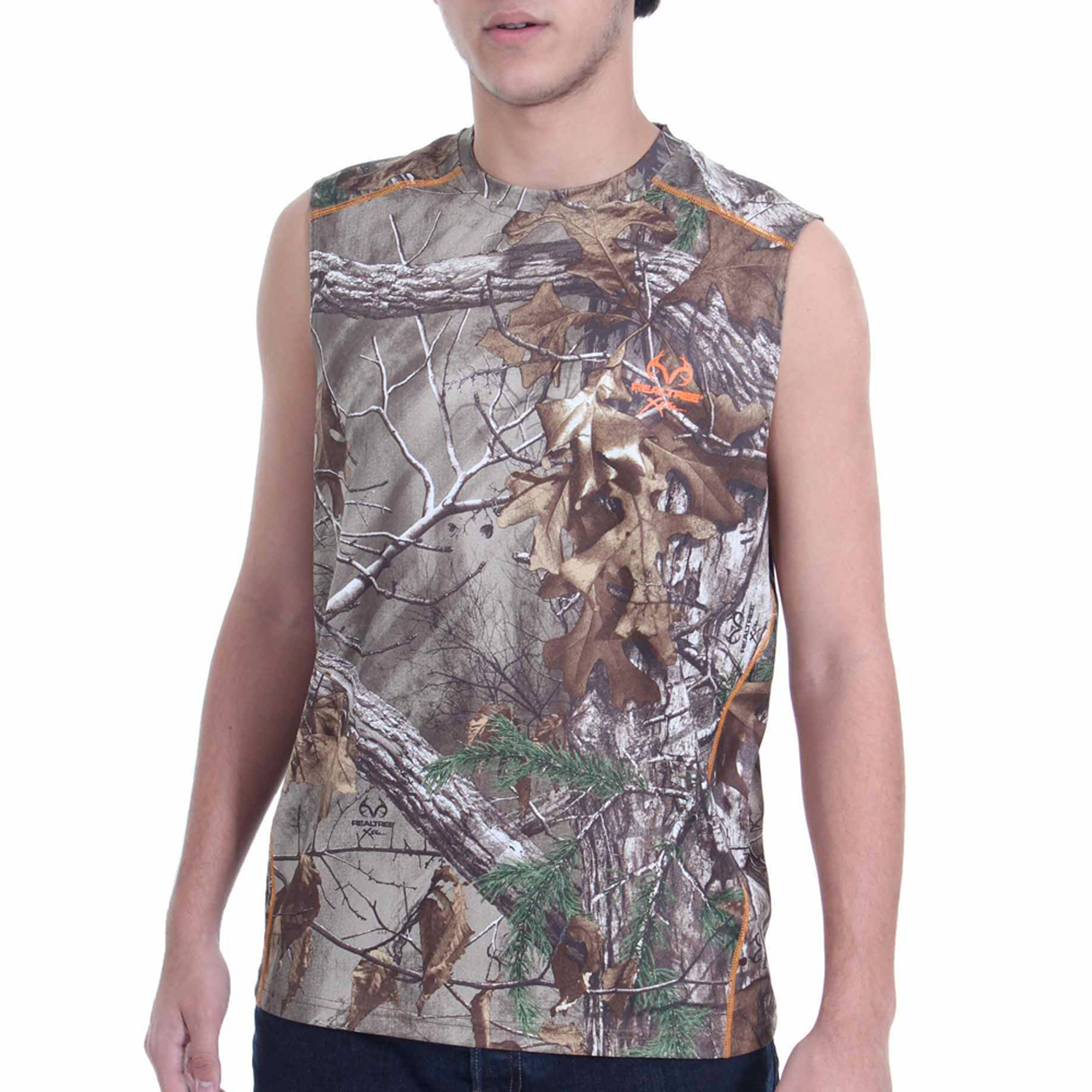 Realtree and Mossy Oak Men's Camo Performance Muscle Tee